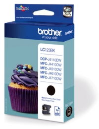 Brother LC123 DCP J4110DW,MFC J4410,4510,4610,4710DW  Tintapatron Eredeti (Fekete)