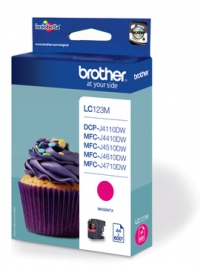 Brother LC123 DCP J4110DW,MFC J4410,4510,4610,4710DW  Tintapatron Eredeti (Magenta)
